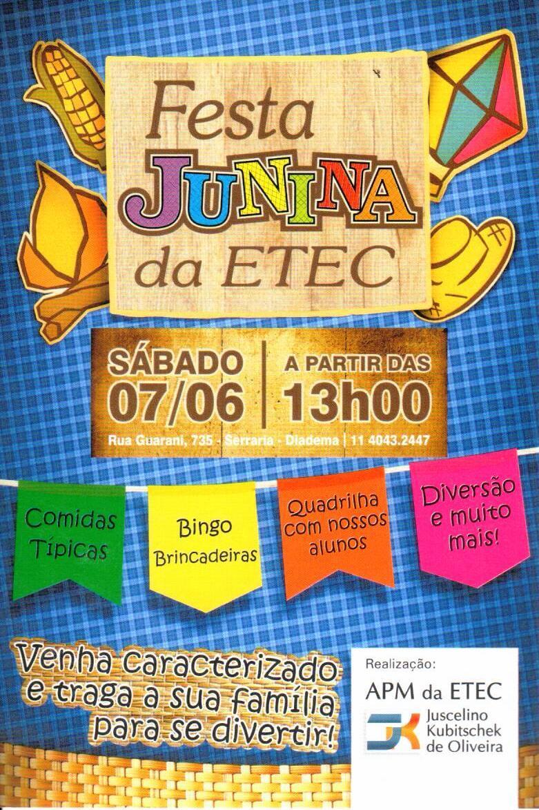 Folder Festa Junina 2014